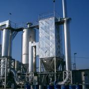 Veszélyes hulladék égető technológia semlegesítő egységeinek képe